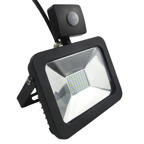 Naświetlacz LED 10W SLIM 4500K Czujnik ruchu