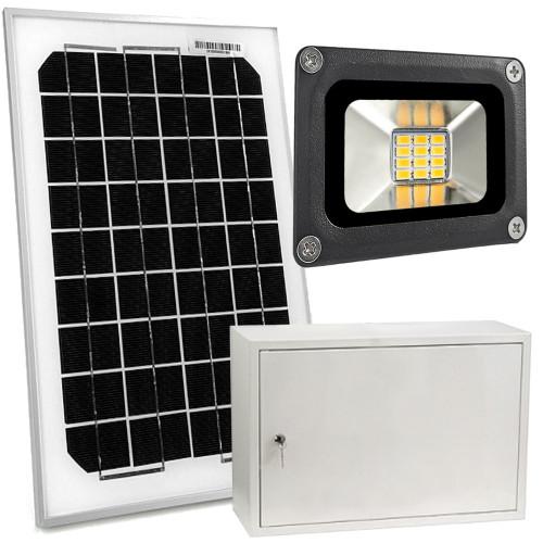 Zestaw solarny 10W,  LED 10W, 7Ah, skrzynka