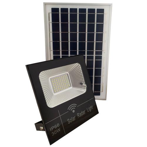 Halogen solarny LED 30W 6000K Pilot Czujnik Zmierzchu