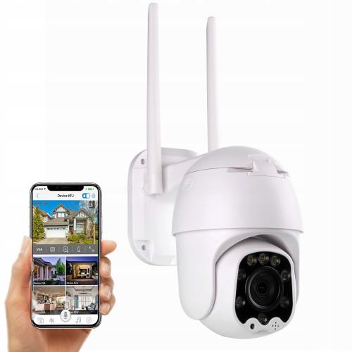 BEZPRZEWODOWA zewnętrzna kamera IP WIFI 4X ZOOM