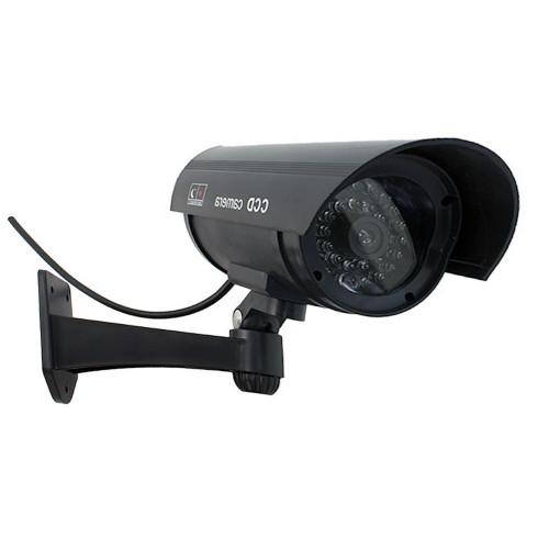 Atrapa kamery tubowej CCD LED czarna