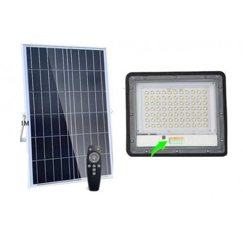LAMPA LED HALOGEN 50W SOLARNA PILOT OGRODOWA RADAR